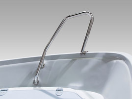 Shark fin bow rail, polished (440)
