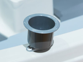 Cup holder for rowlock socket