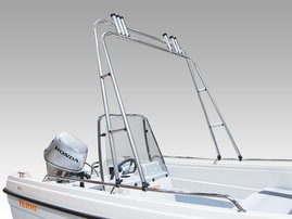 Targa fishing arch (alum.), incl. 6 rod holders